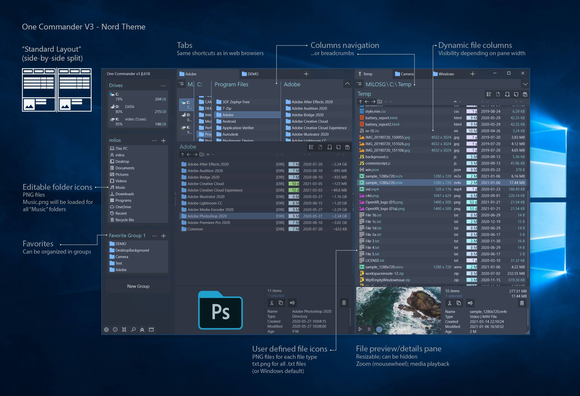 One Commander File Manager for Windows 10